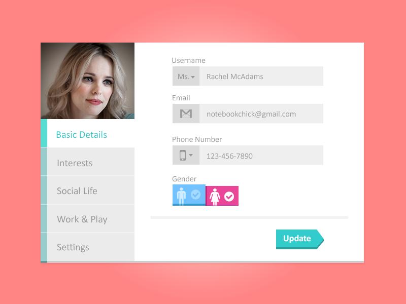 Profile Tabs Freebie - Free Photoshop PSD Files | psdKing ♛