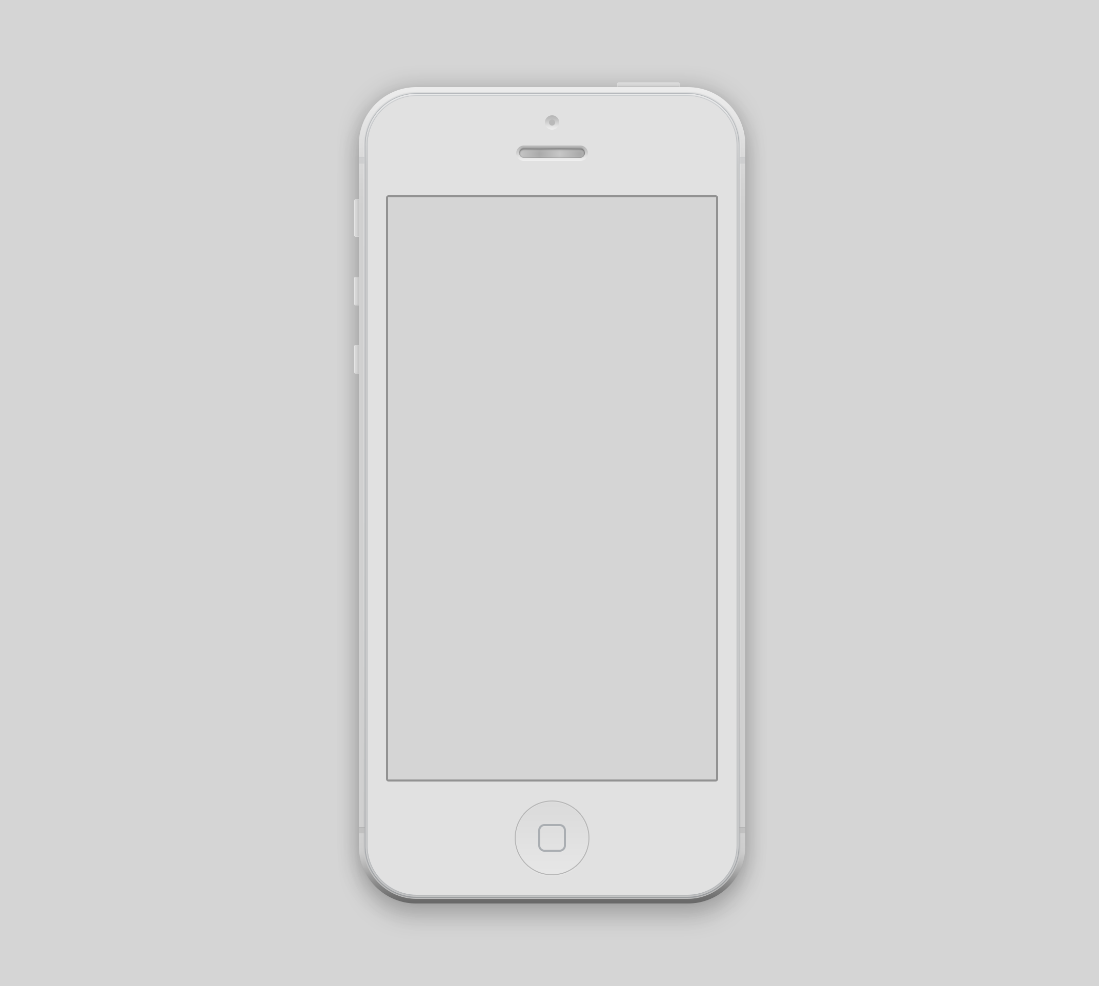 I ve used this iPhone 5 mockup White Iphone 5 Psd