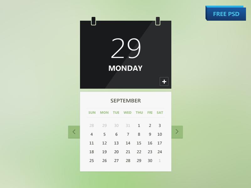Calendar Psd Freebie Free Photoshop Psd Files Psdking