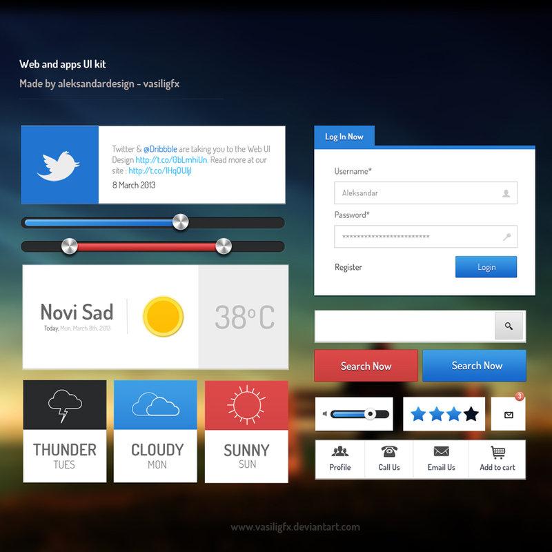 Web and App UI Kit - Free Photoshop PSD Files | psdKing ♛